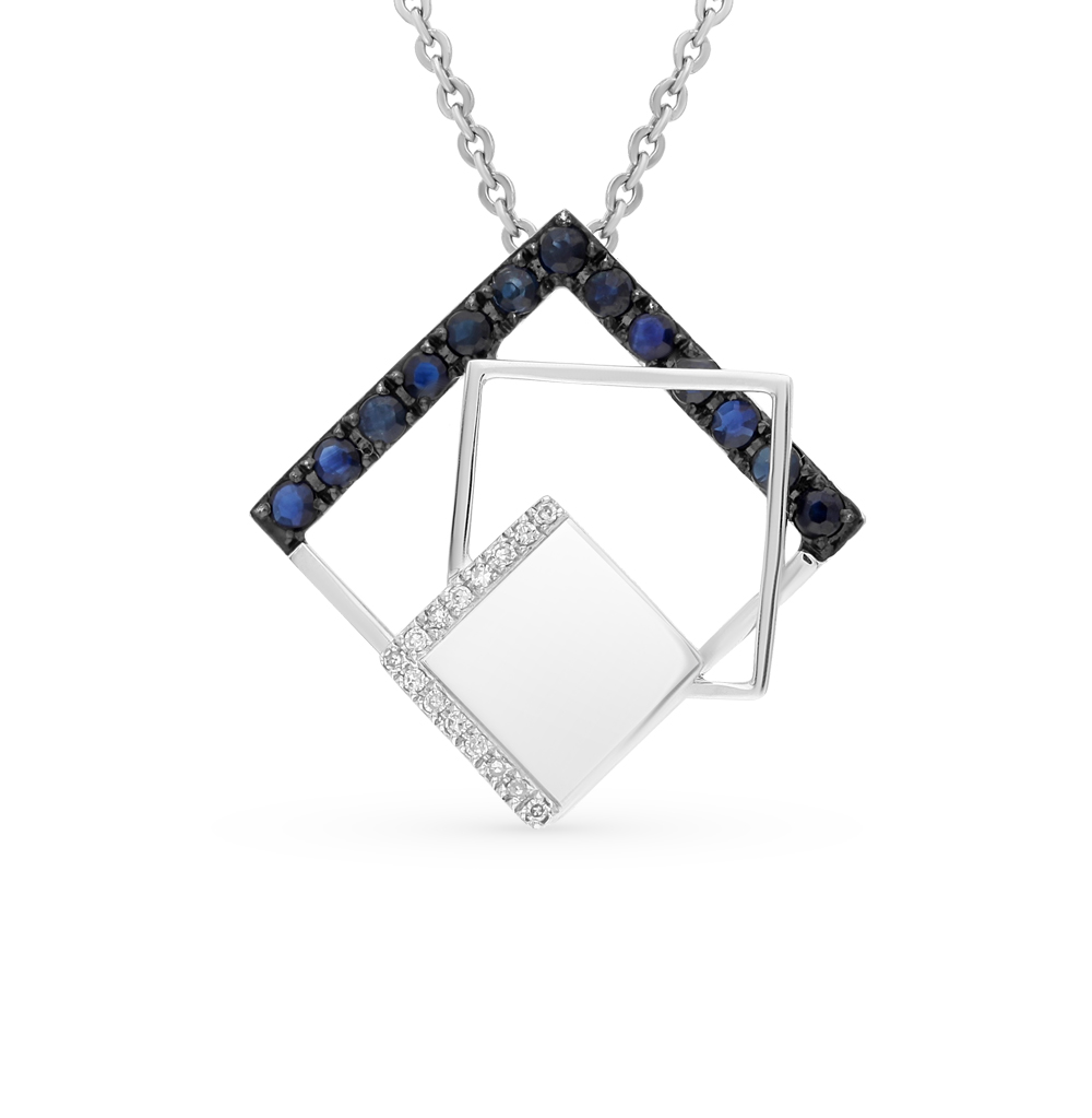 Фото «золото подвеска с бриллиантами и сапфирами»