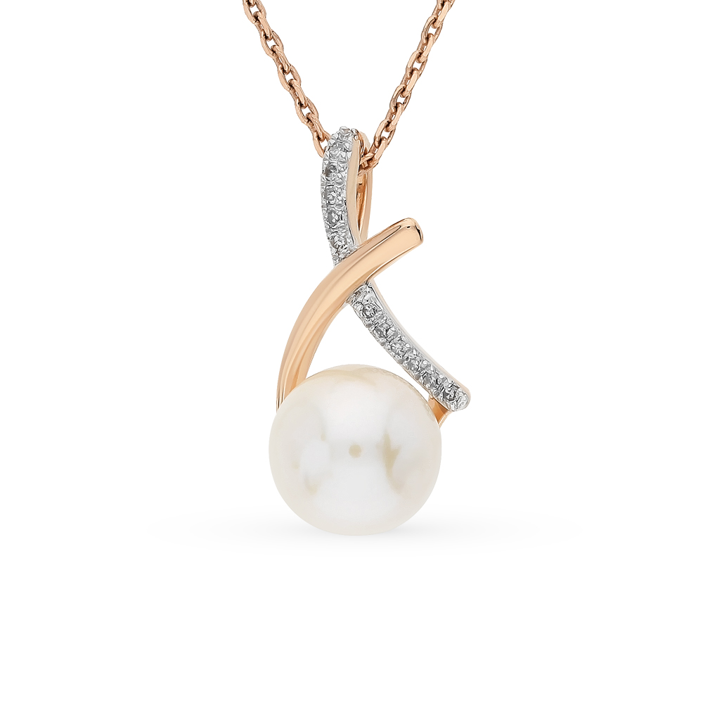 Фото «подвеска с бриллиантами и жемчугом»