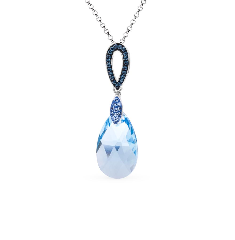 Фото «серебряная подвеска с алпанитами и кристаллами»