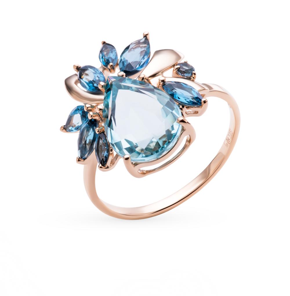 Фото «золотое кольцо с кварцами и топазами»