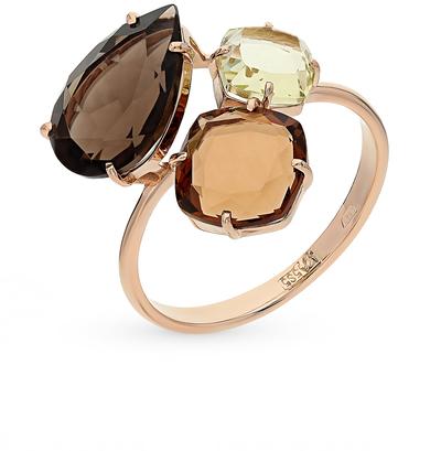 Фото «золотое кольцо с кварцами и раухтопазами (кварцами дымчатый)»