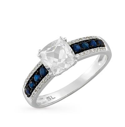 Фото «золотое кольцо с топазами, сапфирами и бриллиантами»