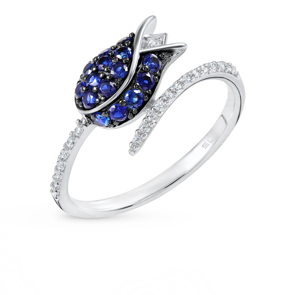 Фото «серебряное кольцо с алпанитами, шпинелями и фианитами»