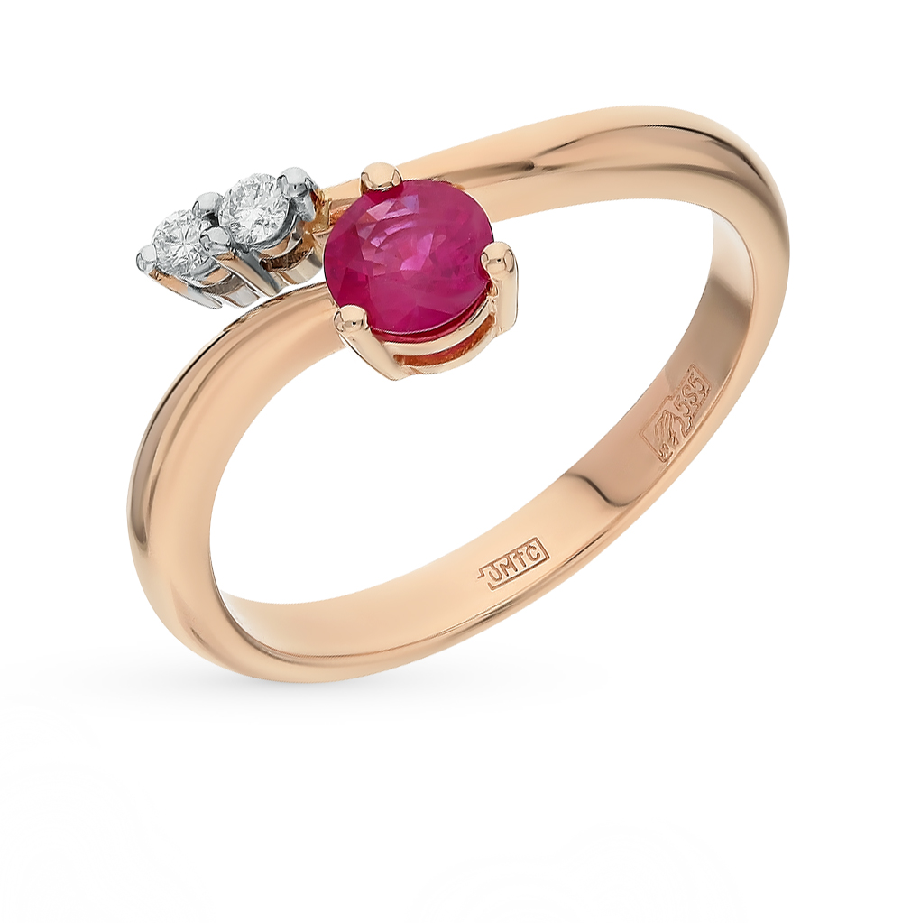 Фото «золото кольцо с рубинами и бриллиантами»