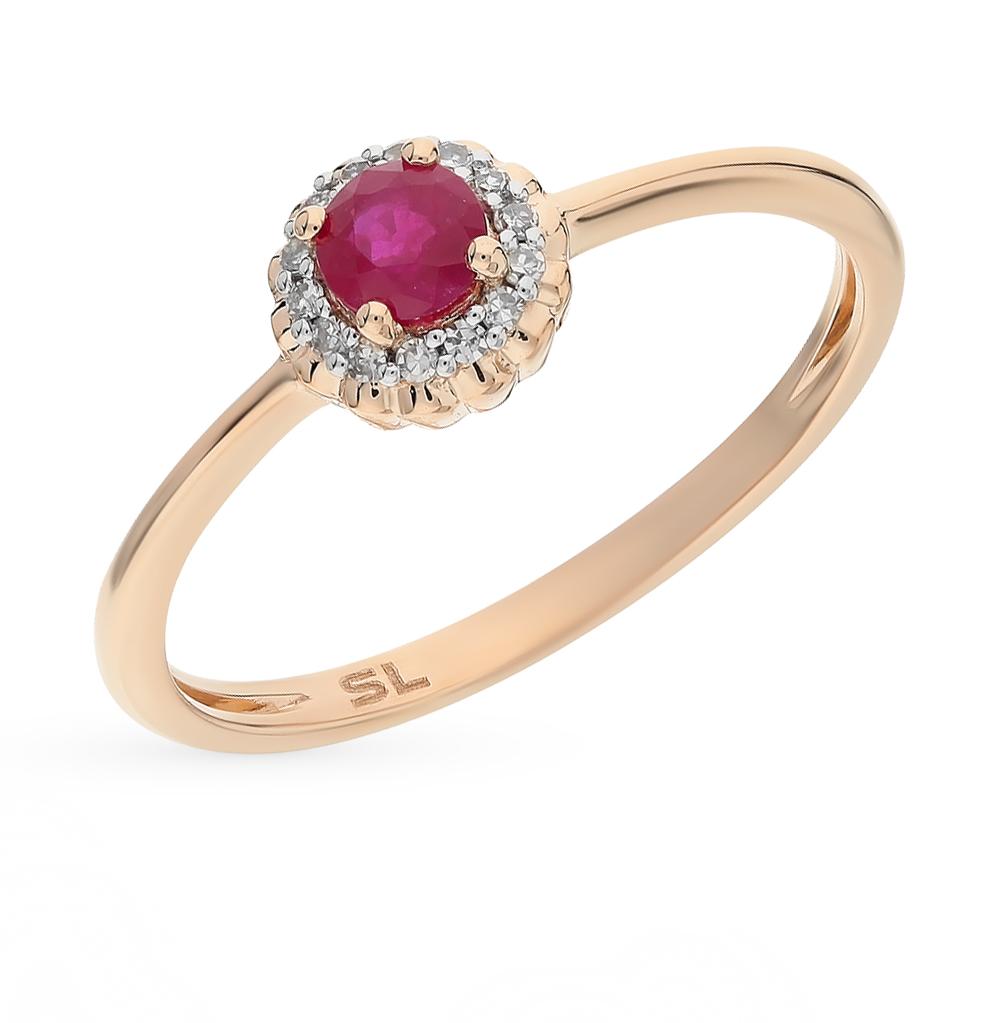 Фото «золотое кольцо с бриллиантами и рубинами»