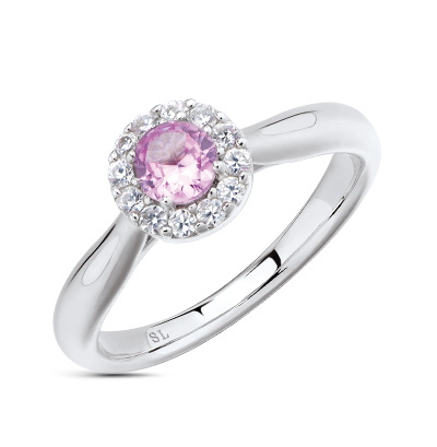 Фото «серебряное кольцо с фианитами и сапфирами»