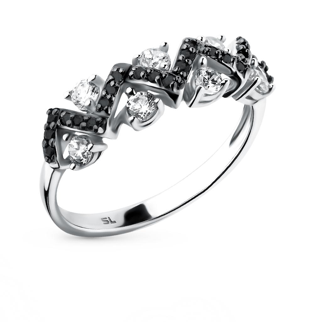 Фото «золотое кольцо с бриллиантами, фианитами и рубинами»