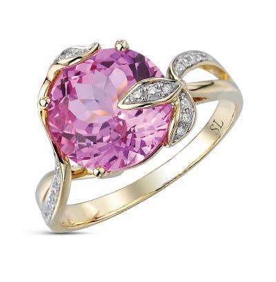 Фото «золотое кольцо с сапфирами синтетическими и бриллиантами»
