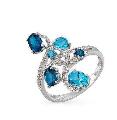 Фото «золотое кольцо с бриллиантами, топазами и рубинами»