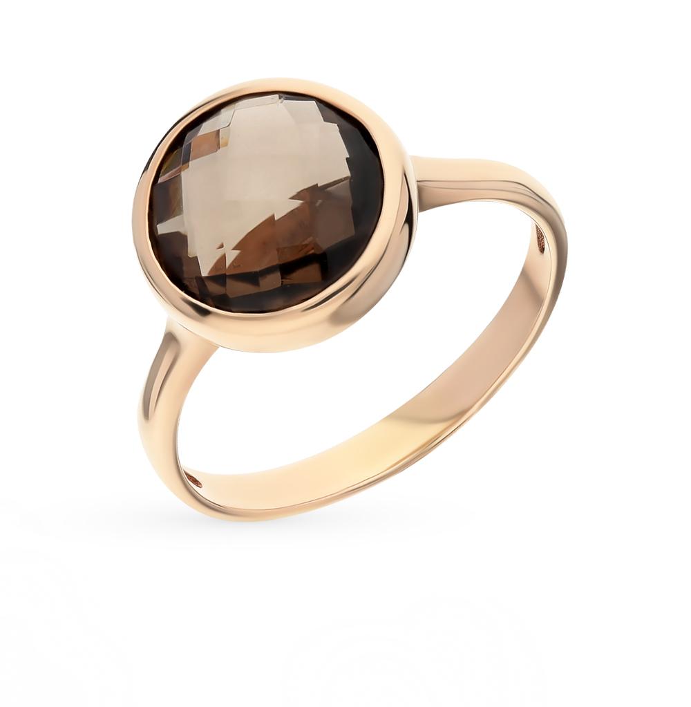 Фото «золотое кольцо с топазами и раухтопазами (кварцами дымчатый)»