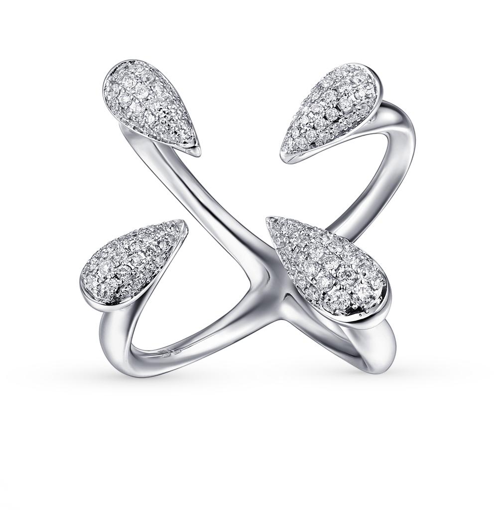 Фото «золотое кольцо с бриллиантами, бирюза имитациями и фианитами»