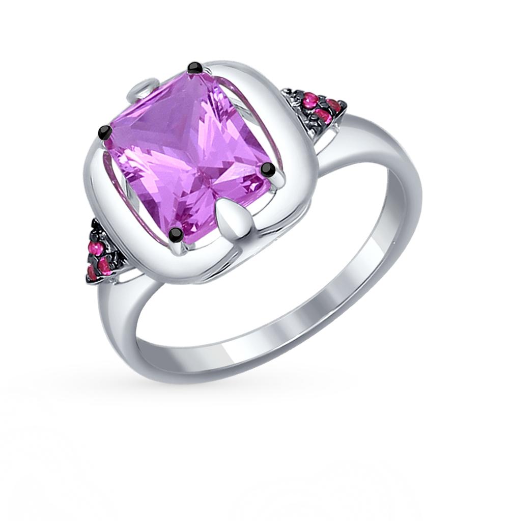 Фото «серебряное кольцо с наноситалами и фианитами»