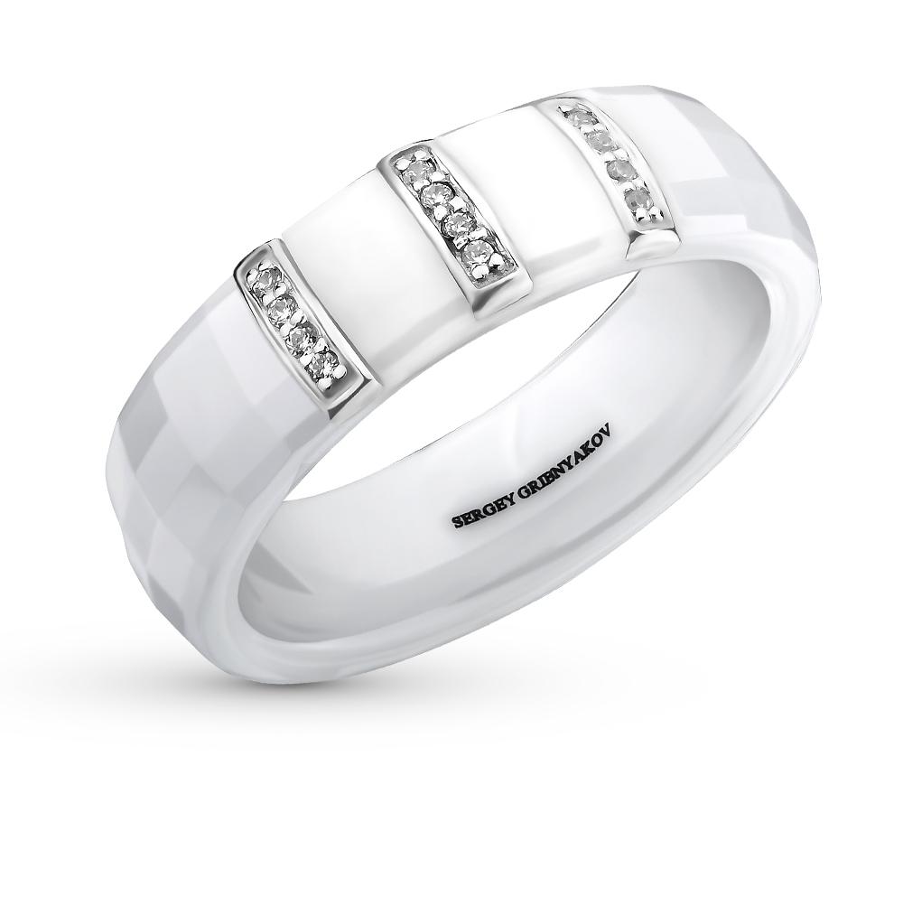 Фото «кольцо из керамики с фианитами»