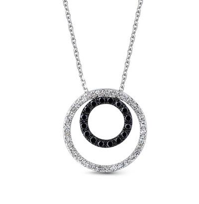 Фото «золотое шейное украшение с чёрными бриллиантами и бриллиантами»
