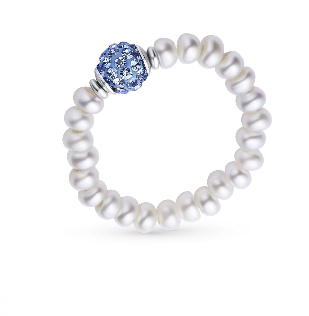 Фото «серебряное кольцо с алпанитом и жемчугом»