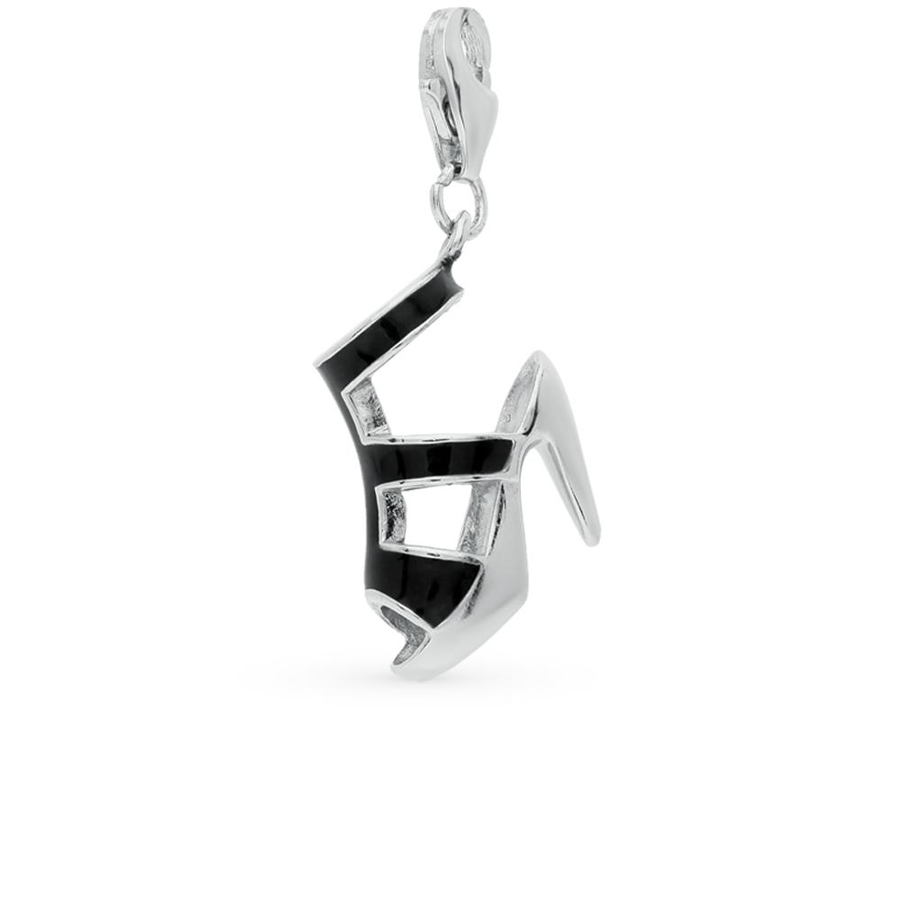 Фото «серебряная подвеска - брелок с эмалью»